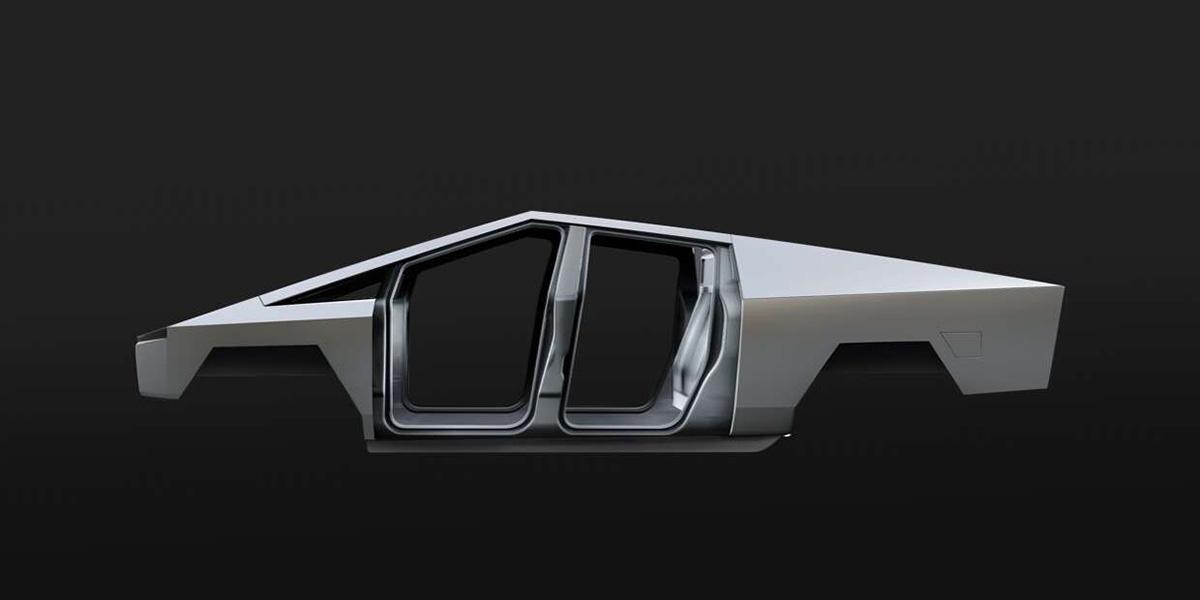 特斯拉电动皮卡Cybertruck车架图